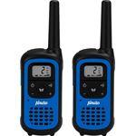 Alecto FR-125 Walkie Talkie 7 km Inclusief laadstation en oplaadbare batterijen Zwart / Blauw