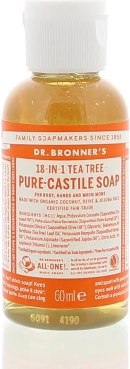 dr bronners Liquid soap tea tree 60 ML