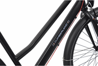Cumberland Sportieve fiets Preston zwart dames 53cm Zwart