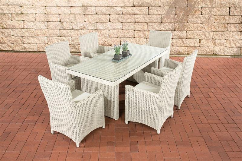 Kussen Wit 6 : Clp poly rotan wicker zitgroep fontana zetels tafel x