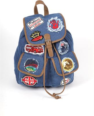 9d0665d2f89 Adventure Bags Jeans Patch Rugtas Never out of stock