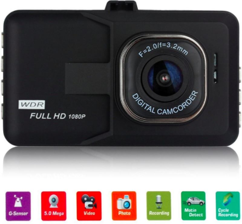 Camenco Full HD Dashcam 1080p Wide Angle – Dashboard Camera voor Auto of Vrachtwagen