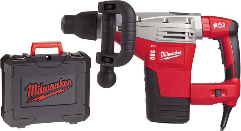 Milwaukee Kango 500 S SDS-max Breekhamer in koffer - 1300W - 8 5J