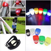 Silicone Safe Bike Light Fietsverlichting / Fietslamp / Fietslicht / Fietslampjes / Fietslichtjes / Set Van 2 Silicone LED - Verlichtingsset LED Spaken Waterproof - Spoke light - Fietsverlichting Set - Firefly - Rood/Wit