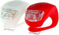 Dutch Gadgets Fietslampjes LED - Set Wit en Rood - Voorlicht en Achterlicht - Inclusief Batterijen - Fietslicht - Lampjes Voor Fiets