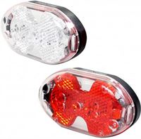 Simson Verlichtingsset Batterij Led Zwart/rood
