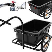 deuba Aanhangwagen Fietsaanhanger Bagagekar fietskar 90 Liter