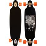 Black Dragon Longboard 36 Drop-through - Jungle Fever - Zwart/Wit/Fluororanje