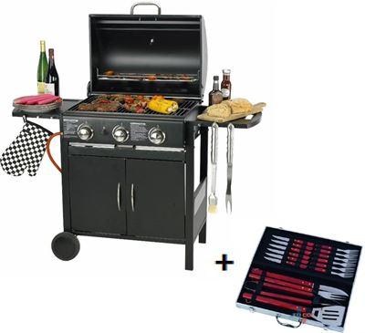 Gas Bbq Kopen.Maxxtools Maxx Gas Barbecue 3 Branders 129x55x100 Cm Gratis Bbq Set