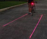 Laser achterlicht Fietsverlichting - Fietslamp - Laserlamp