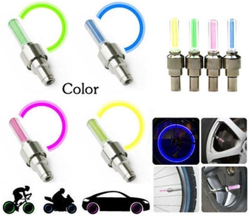 jyk ventielverlichting 2x led groen fietswielverlichting fietsverlichting voor op het ventiel fietslampjes