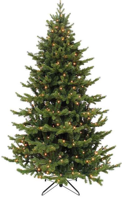 triumph tree kunstkerstboom led deluxe sherwood spruce maat in cm 155 x 112 groen 120