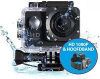 Eken A9 Full HD1080P Action Camera + Hoofdband en vele accessoires