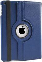 iPad Hoes 360 ° Draaibaar Leer Donker Blauw. Voor de iPad Air 2