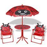 vidaXL Tuinmeubelset voor kinderen 4-delig rood