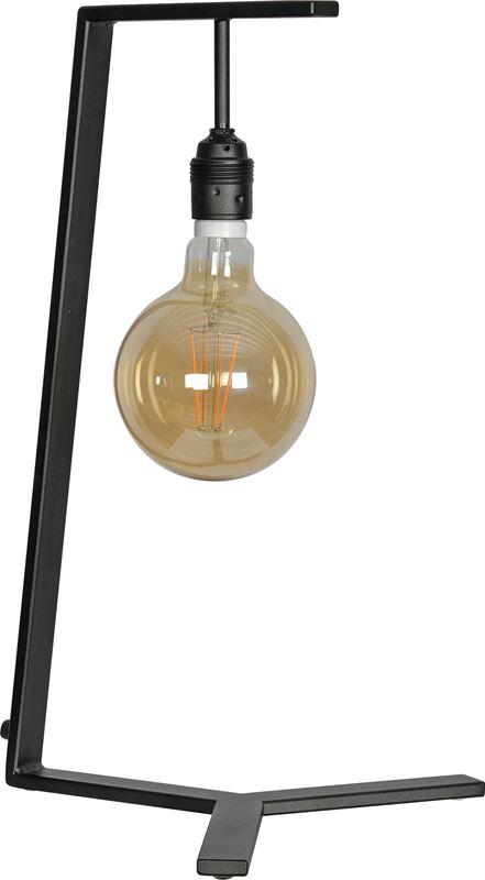 ztahl by dijkos tafellamp trevi zwart e27