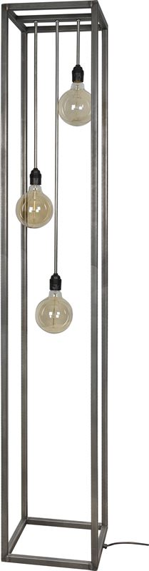 ztahl by dijkos rimini vloerlamp xl zwart staal 3 lichtpunten incl