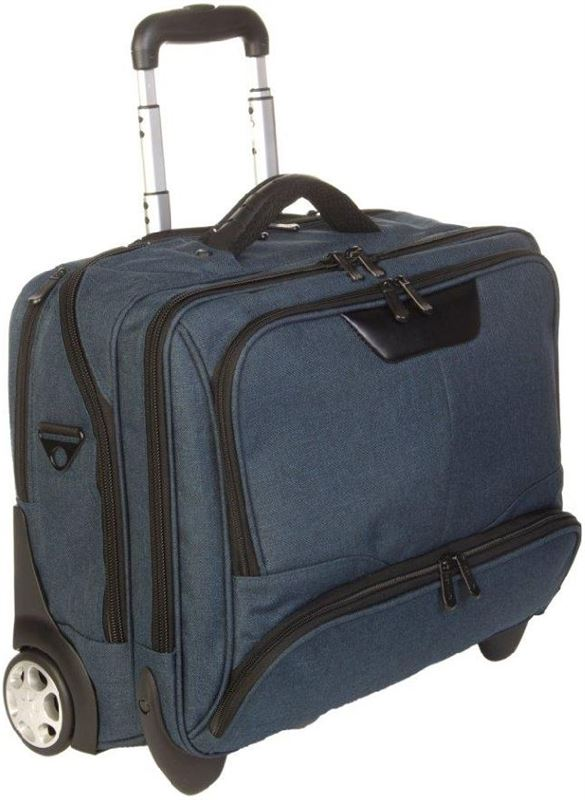 Dermata Business Office Case Laptoptrolley canvas petrol