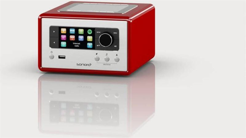 sonoro RELAX - Rood WiFi - Spotify Connect - FM / DAB + radio en Bluetooth