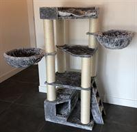RHRQuality Krabpaal Corner Coon Licht Grijs voor grote katten