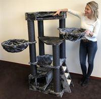RHRQuality Krabpaal Corner Coon Blackline Donker Grijs voor grote katten van