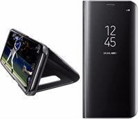 EveStar Clear View Stand Cover voor de Samsung Galaxy S9 Plus – Zwart