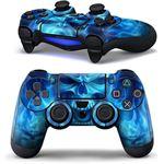 Gratis2day.nl PS4 dualshock Controller PlayStation sticker skin Blue Skull