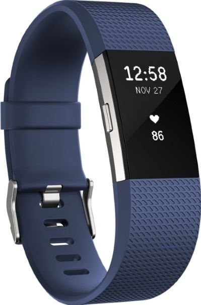 Fitbit Charge 2 blauw, zilver / S