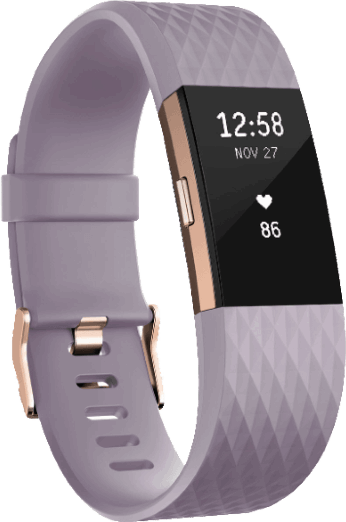 Fitbit Charge 2 goud, paars / L