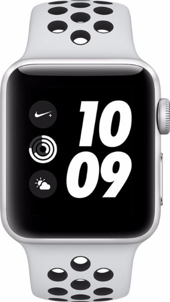 Apple Watch Nike+ 3 zwart, platina / S|L