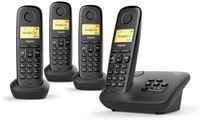 Gigaset A270A - Quattro DECT telefoon met antwoordapparaat - Zwart