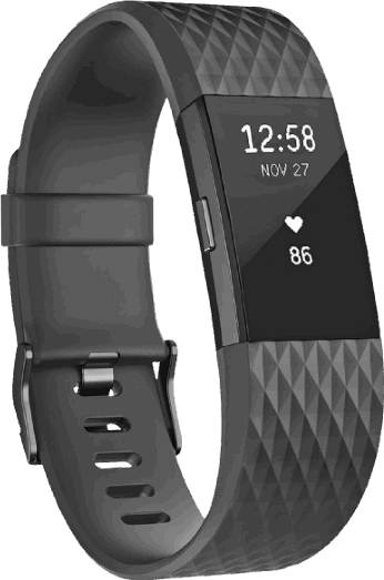 Fitbit Charge 2 zwart, antraciet / L