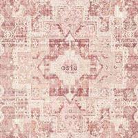 0fb09a8fe8c534 ESTAhome.nl krijtverf eco texture vliesbehang oosters ibiza marrakech kelim  tapijt perzik oranje roze peach - 148656