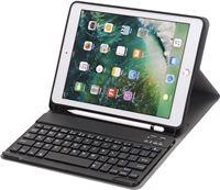Shop4 - iPad 9.7 2018 Toetsenbord Hoes - Bluetooth Keyboard Cover Business Zwart met Pencil Houder