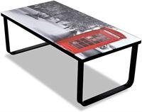 vidaXL Glazen salontafel met telefooncelprint