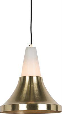 QAZQA Albasta Hanglamp 1 lichts H 1650 mm goudmessing