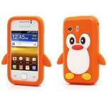 B2Ctelecom Penguin Silicone Case Samsung Galaxy Y S5360 Oranje Hoesjes en Cases van