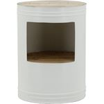 By Boo Sidetable Barrel - white