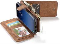 CaseMe Samsung Galaxy S9 Leren portemonnee hoesje met uitneembare telefoon case