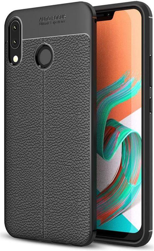 758c44d7eb9 GSMpunt.nl Asus Zenfone 5Z Backcover met Lederen Coating Zwart