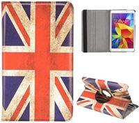 My-icover.nl Samsung Galaxy tab 4 8.0 - hoes cover case - 360 draaibaar - PU leder - UK vlag Bescherm uw Samsung Tab 4 8.0 inch optimaal