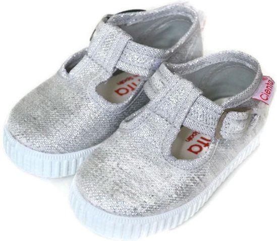 Kinderschoenen 27.Cienta Canvas Zomer Kinderschoenen Zilver Maat 27 Kopen