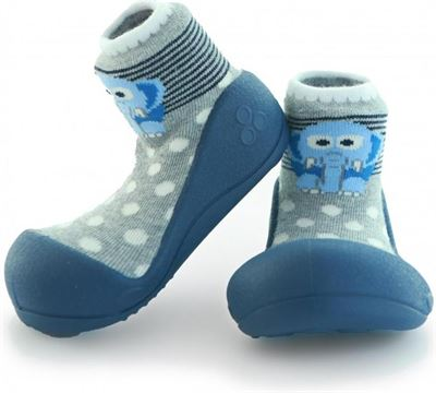 71419480741 Attipas ZOO blauw babyschoenen ergonomische Baby slippers slofjes maat 19  3-6 maanden