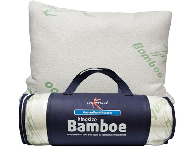Bamboe Kussen Ervaringen : Lucovitaal hoofdkussen bamboe kingsize kopen kieskeurig