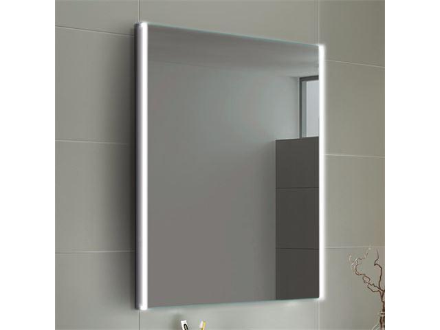 Verwarmde Badkamer Spiegel : Soak lunar led verlichte verwarmde badkamerspiegel met