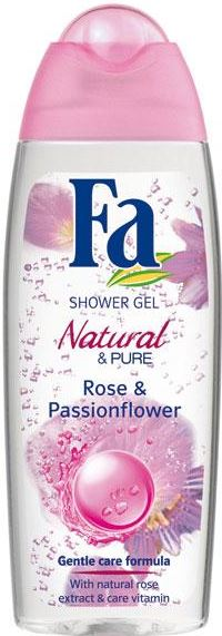 Fa Natural & Pure Showergel - Rose & Passionflower 250 ml
