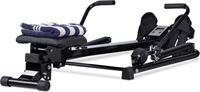 Relaxdays roeitrainer - roeimachine - fitnessapparaat - opklapbaar - fitness roeiapparaat