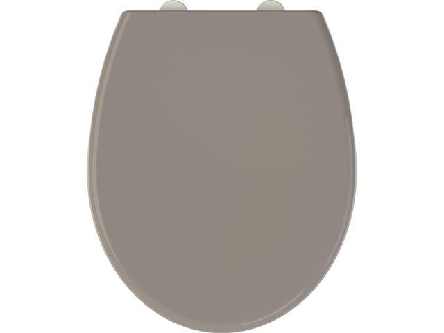 547af7b384989e Allibert wc-bril FALLY - thermodure - soft close - afklikbaar - antibacterieel - taupe kopen