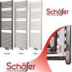 Schafer-Design Schafer - Design Handdoek Radiator Wit Middenaansluiting-B400XH1000