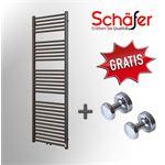 Schafer Design Schafer - Design Handdoek Radiator Antraciet Middenaansluting - B400 x H800